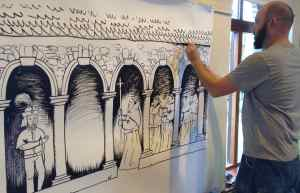 Artist James Kirwan's Drawing Workshop for Heritage Week