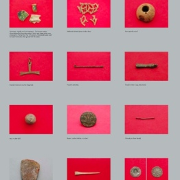 Some of the finds from the summer 2014 digging season at the Black Friary, Trim (poster from Pop-Up Museum)