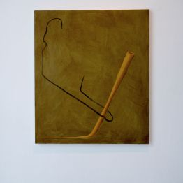 Paperclip / Damien Flood, 2014 Oil on canvas 60 x 50 cm. Product Recall, 2015