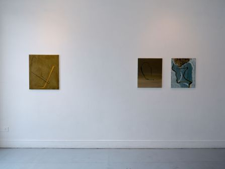(L-R) Paperclip (2014), Deflate (2015), Torso (2014) / Damien Flood